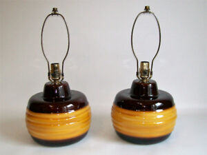 2 Lampes de Table Vintage - 2 Vintage Ceramic Table Lamps