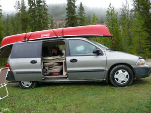 Slide-in camper conversion for Ford Windstar