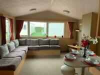 Static caravan for sale with bunk beds, beach location, North Wales