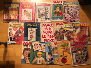 Vintage National Lampoons, MAD & Penthouse Mags for Sale!