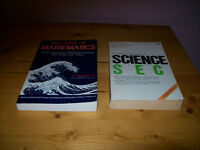 math book and science book