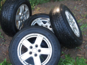 FOUR ALUMINUM RIMS FOR SALE - 17 inch