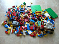 2 pounds Lego with baseplates and minifigs