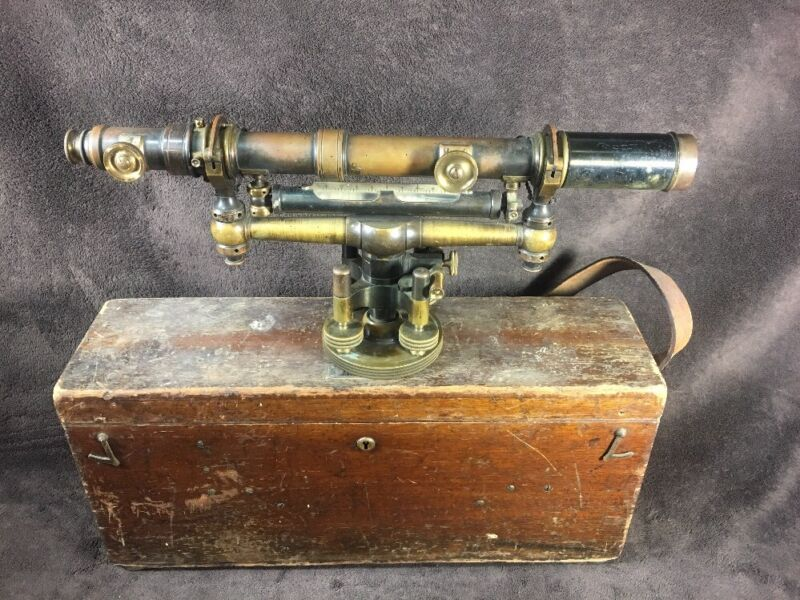 EARLY W. & L.E. Gurley Brass Transit; Troy New York; Surveyor Engineer 1910