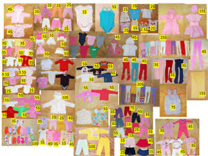 0-3 ans. bébé girl clothing. vêtements de bébé fille