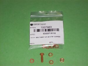 "ED2227-30 G2 - BOLT ASSY 1/4""-20 X 7/8"" COPPER"