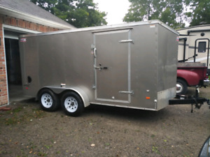 2017 dual axle 14ft covered trailer