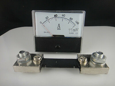Analog Amp Panel Meter Current Ammeter Dc 0-100a Shunt