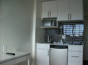 Studio unit, lots of ammenities, near 3 major bus lines