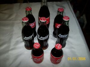 Various Coca-Cola bottles (8)