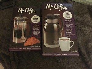 Mr. Coffee French Press and Coffee Pot