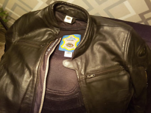 HELD quality leather motorcycle jacket - removable armour