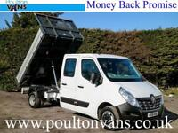 """2016 (16) RENAULT MASTER CCLL35 BUSINESS TW R.W.D 7 SEAT CREW CAB 10'9"""" TIPPER"""