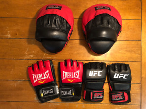 Everlast and UFC MMA gloves and focus mitts (Great Condition)