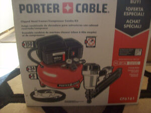 Porter Cable Clipped Head Framing Nailer/Compressor Combo