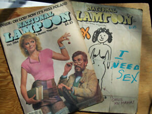 2 National Lampoon Magazines