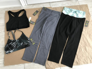 Old Navy sports bra and long pants, size: M, each $10