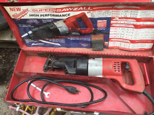 Milwaukee sawzall Electric as is in original case tool