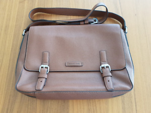 Michael Kors Men's Luggage Brown Leather Bryant Messenger Bag