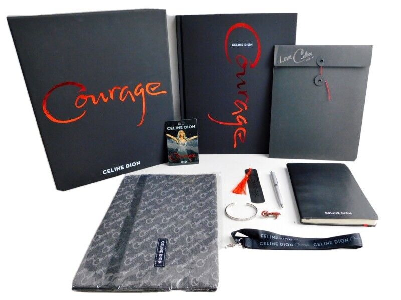 Celine Dion Courage Complete 2019 VIP Tour Gift Set Box NEW NO CONCERT TICKETS