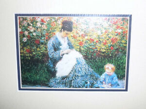 "Claude Monet ""Camille Monet and a Child in the Artist's Garden Stratford Kitchener Area image 2"