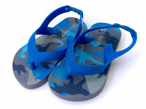 Old Navy Blue Toddler Baby Flip Flops Sandals - Size 5