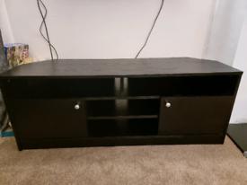 Large corner TV unit - Black