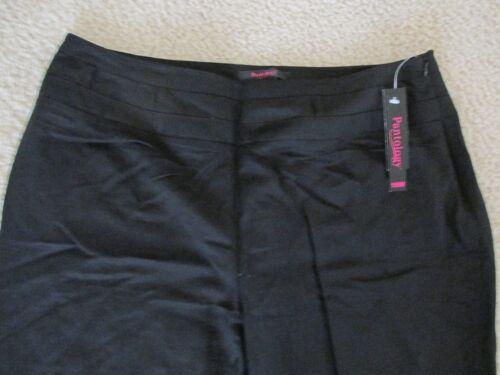 ec57fe953fcf9 New with Tags Women s Pantology Linen Blend Cropped Pants Black Capris Size  18W