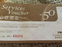 Cathay Pacific or Dragon Air $50 US voucher