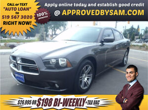 CHARGER SXT - $198+TAX BI-WEEKLY OAC - APPLY @ APPROVEDBYSAM.CO