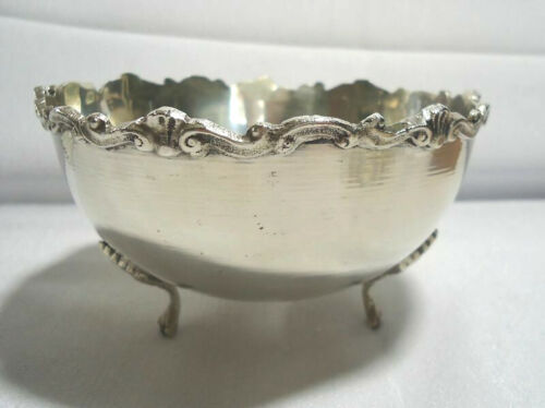 VTG Antique 800 Coin Silver Bowl Germany Fan & Scroll Design NO SCRAP 169 gram