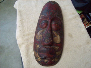HAND CARVED AFRICAN MASK