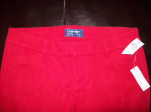 Old Navy Red Mid-Rise Pixie Chinos Size 6 Petite NWT