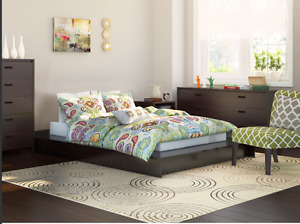 Lorraine Platform Bed with Memory Foam Mattress (Queen)
