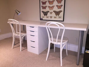 IKEA DESK AND CHAIRS (IN PERFECT CONDITION)