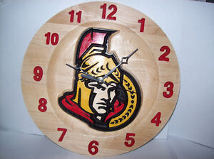 NHL clocks or anything you want on it all maple clock Cornwall Ontario image 1