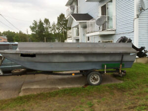 Chaloupe duck boat 16pieds 45hp