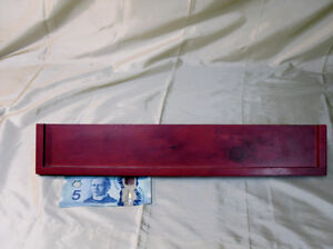 Red Stained hanging shelf