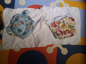 Pair of lightly used AppleCheeks diapers Size1 - bamboo inserts
