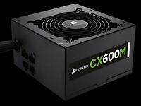 Corsair CX600M 600W Modular PSU Quiet Power Supply