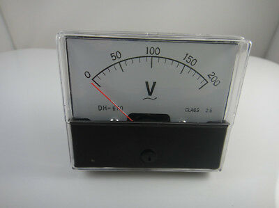 Analog Volt Voltage Voltmeter Panel Meter Ac 0-200v