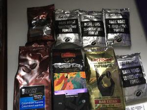 Coffee machine beans arabica espresso dark roast