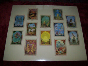 Vintage Triple Matted, Shrinkwrapped, Rare, Zodiac Poster Cards