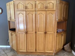 Oak Kitchen Pantry and Cupboards