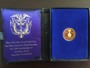 Columbian 1500 Peso Proof Gold Coin