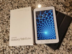 SAMSUNG GALAXY TAB E LITE TABLET/charger/box+FREE CASES!