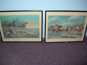 Lithograph Cederberg/71 The March West & N.W Rebellion
