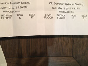 Old Dominion Concert Tickets