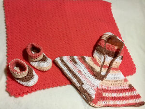 Hand crocheted baby sets