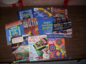 Assorted Quilting Books and Magazines